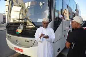 UAE(ドバイ)オマーン(マスカット)間の国際バスのチケット売り場
