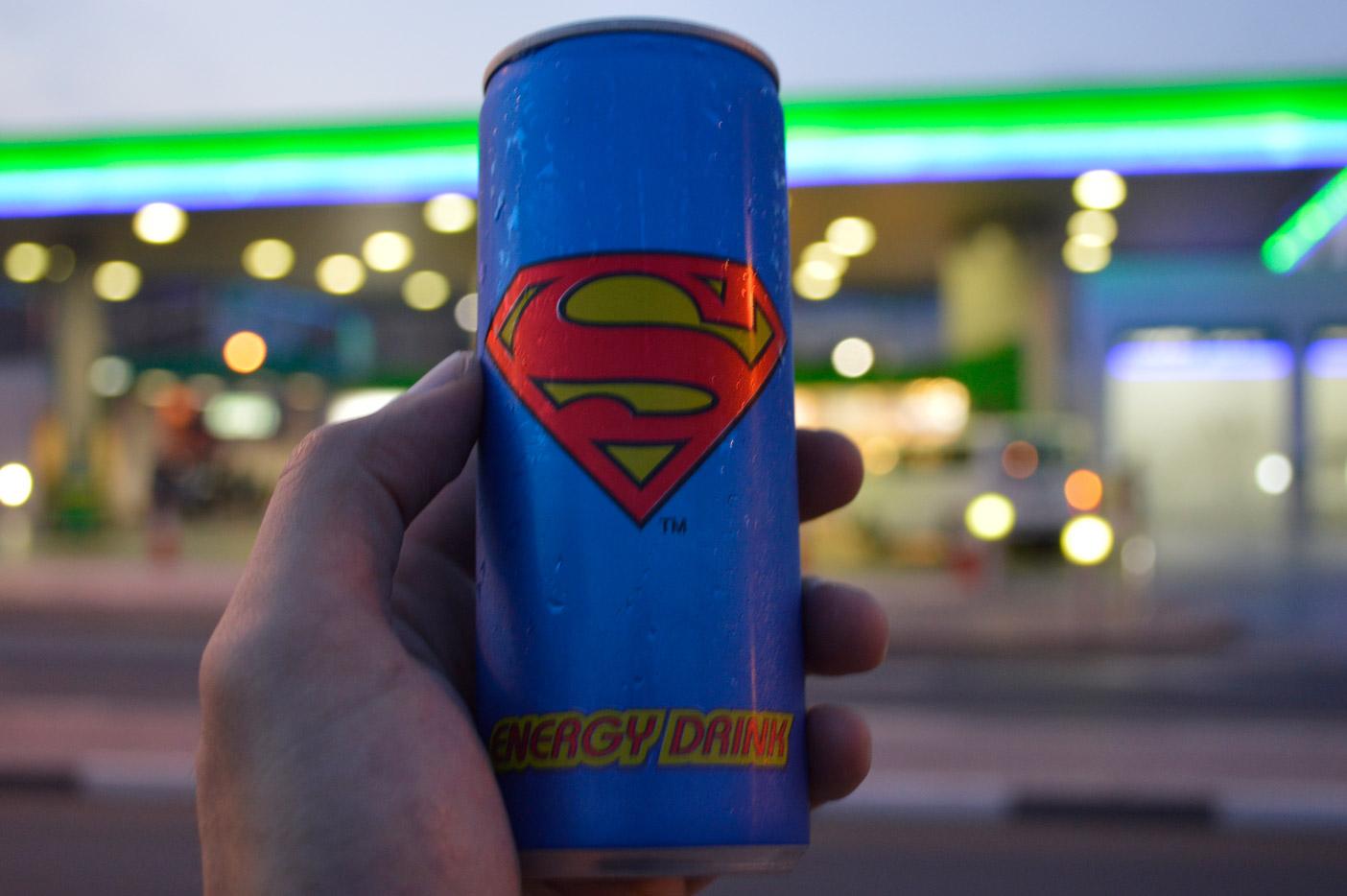 スーパーマンのエナジードリンク