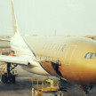 バーレーンで見かけたガルフエアーの飛行機