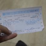 1-2バラナシ行きのチケットを外国人チケットオフィス「INTER NATIONAL TOURIST BUREAU」(インド・ニューデリー)