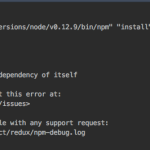 "【npm対応】nvm is not compatible with the npm config ""prefix"" option: currently set to ""/usr/local""とRefusing to install redux as a dependency of itself"