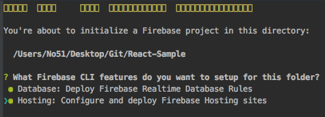 【Firebase】firebase serve をしたらNot in a Firebase app directory (could not locate firebase.json)