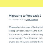わたしもみている | 「 Webpack 2」「async/await」「レスポンシブイメージ」等