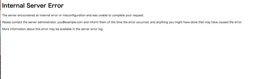 【WP】ローカル環境移行したら管理画面が表示されない「configuration error:  couldn't perform authentication. AuthType not set!: /[folderName]/wp-login.php」