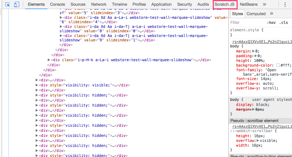 【JavaScript】ECMAScript2015のChromeExtension「ScratchJS」の使い方