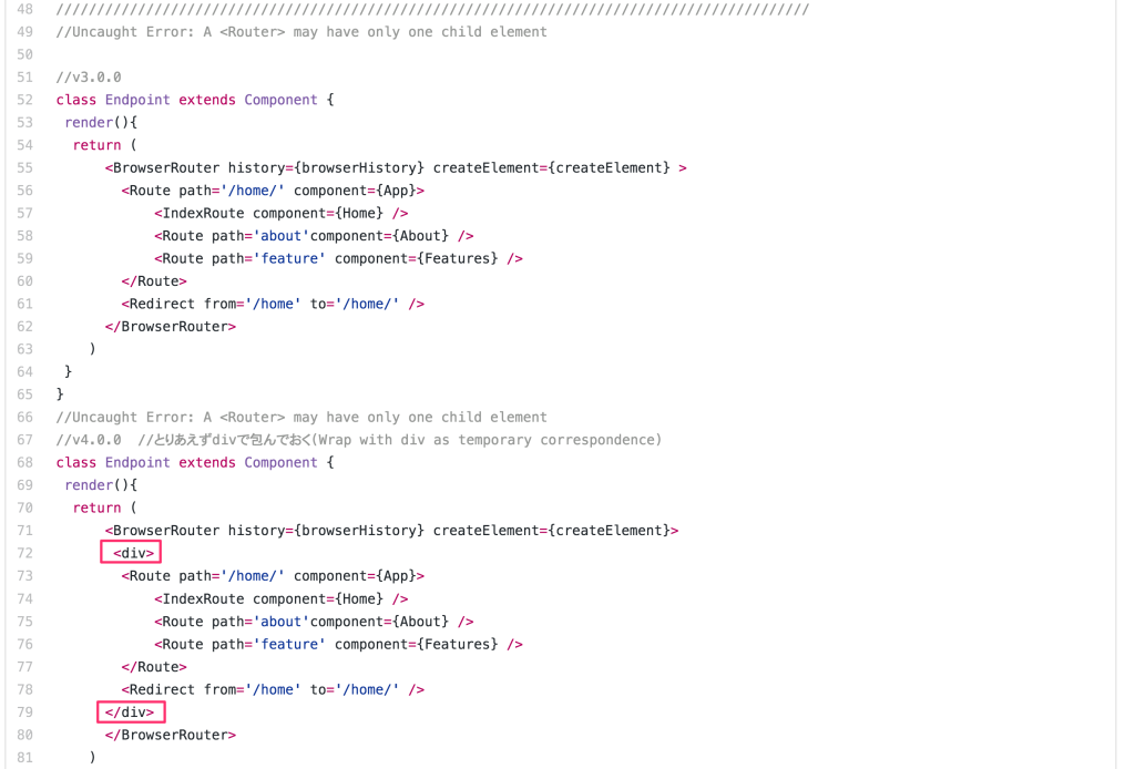 react-router-dom@4.x Uncaught Error: A may have only one child element