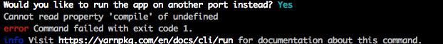 これが出たら。Webpack 「Cannot read property 'compile' of undefined」