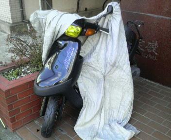 バイクシートの掛け方