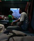 深夜の列車