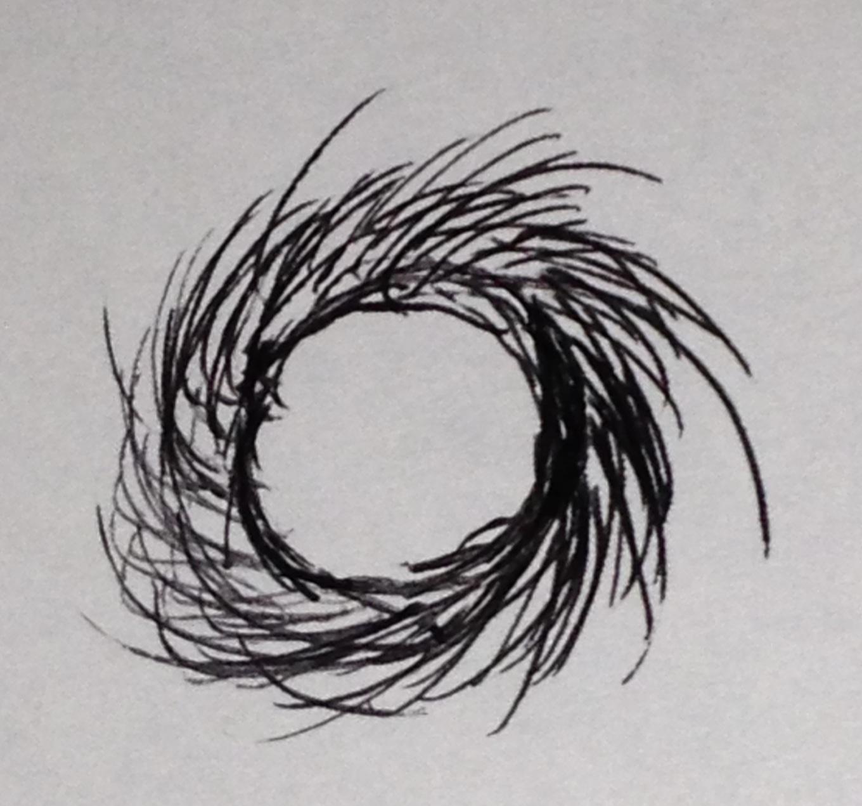 髪の毛のゴム