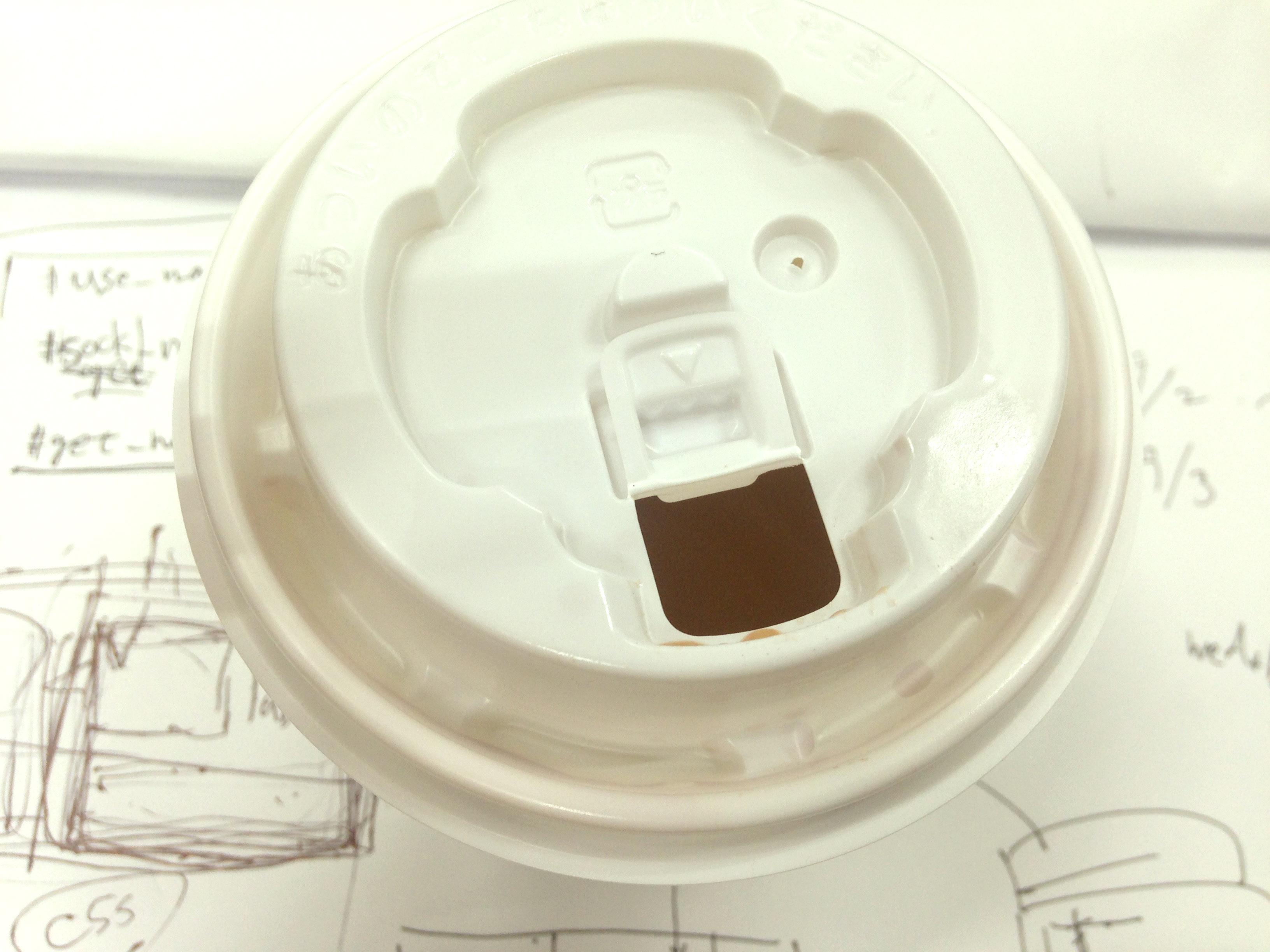 熱いカップ