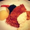 渋谷東急インのランチビュッフェ。白身魚のチーズ風味フライ/タルタルソース