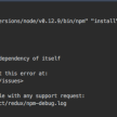"""【npm対応】nvm is not compatible with the npm config """"prefix"""" option: currently set to """"/usr/local""""とRefusing to install redux as a dependency of itself"""