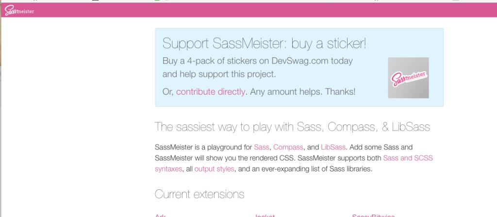 【Scss】こんなんあったんだね「sassmeister」に触れてみる