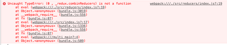 【Redux/combineReducers】これが出たら真っ先に疑う箇所「Uncaught TypeError: (0 , _redux.combinReducers) is not a function」