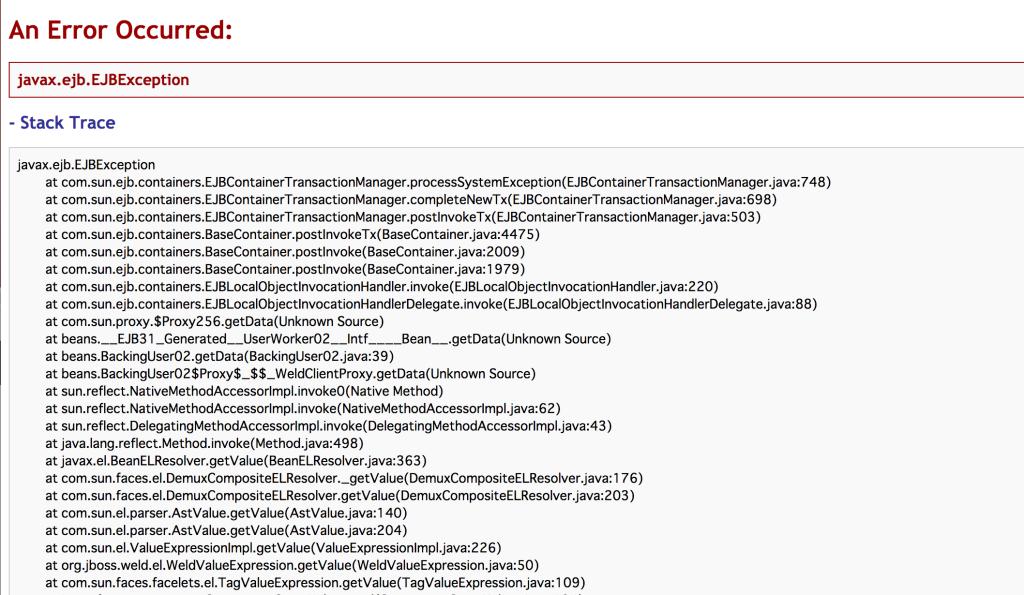【JavaDB/glassFish】解決!Internal Exception: java.sql.SQLSyntaxErrorException: 表またはビュー'[TABLE_NAME]'は存在しません。