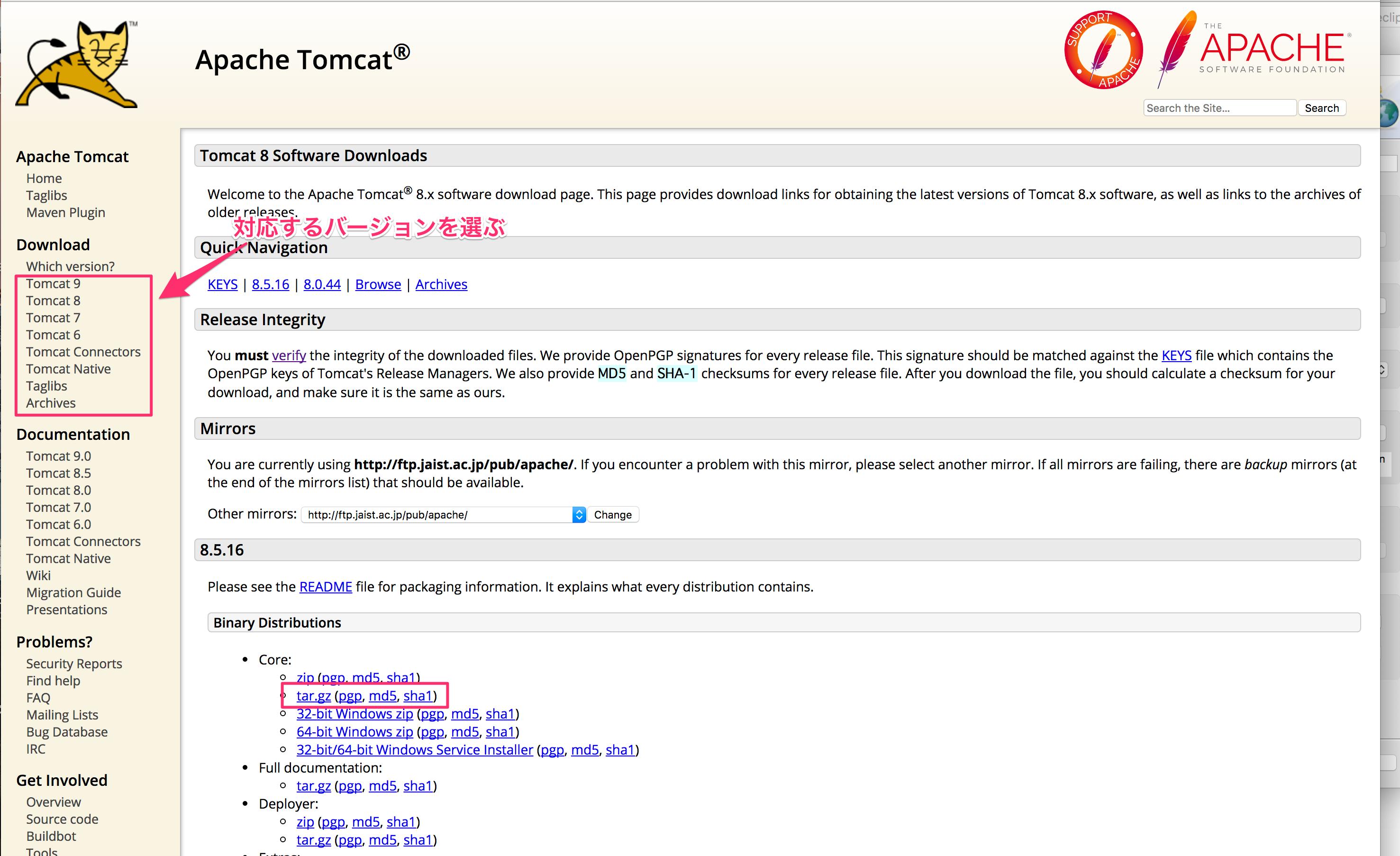 【Eclipse/Tomcat/Mac/】EclipseでTomcatを設定する方法(for Mac)
