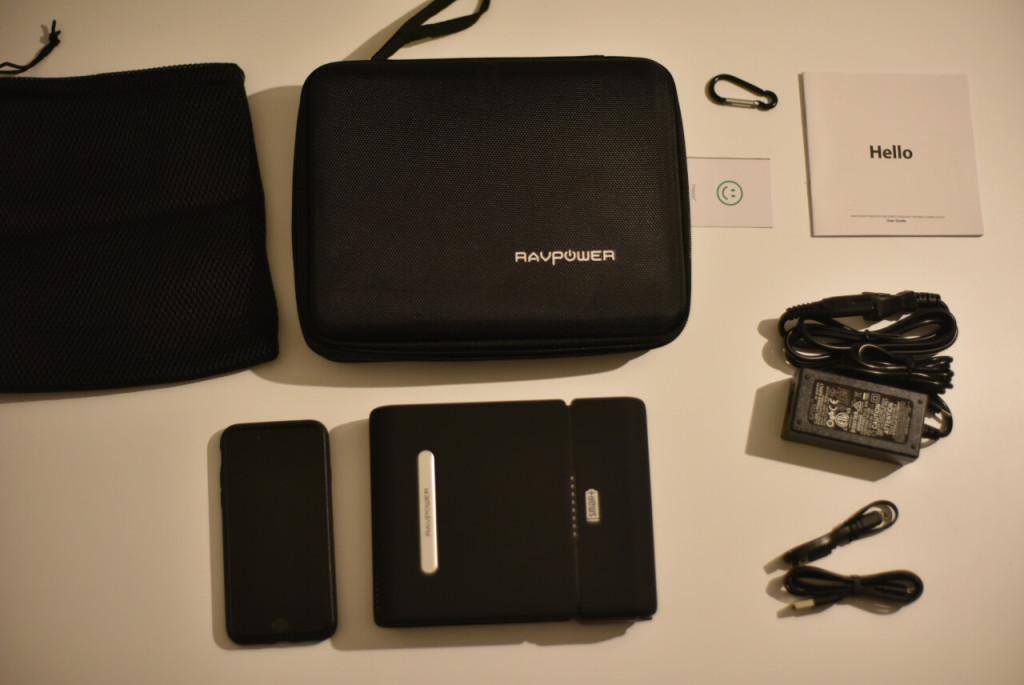 「付属品含め全部」RAVPOWER 『ポータブル電源 RAVPower 27000mAh-RP-PB055 / 100W 予備電源 パソコン バッテリー(MacBookPro2016対応)