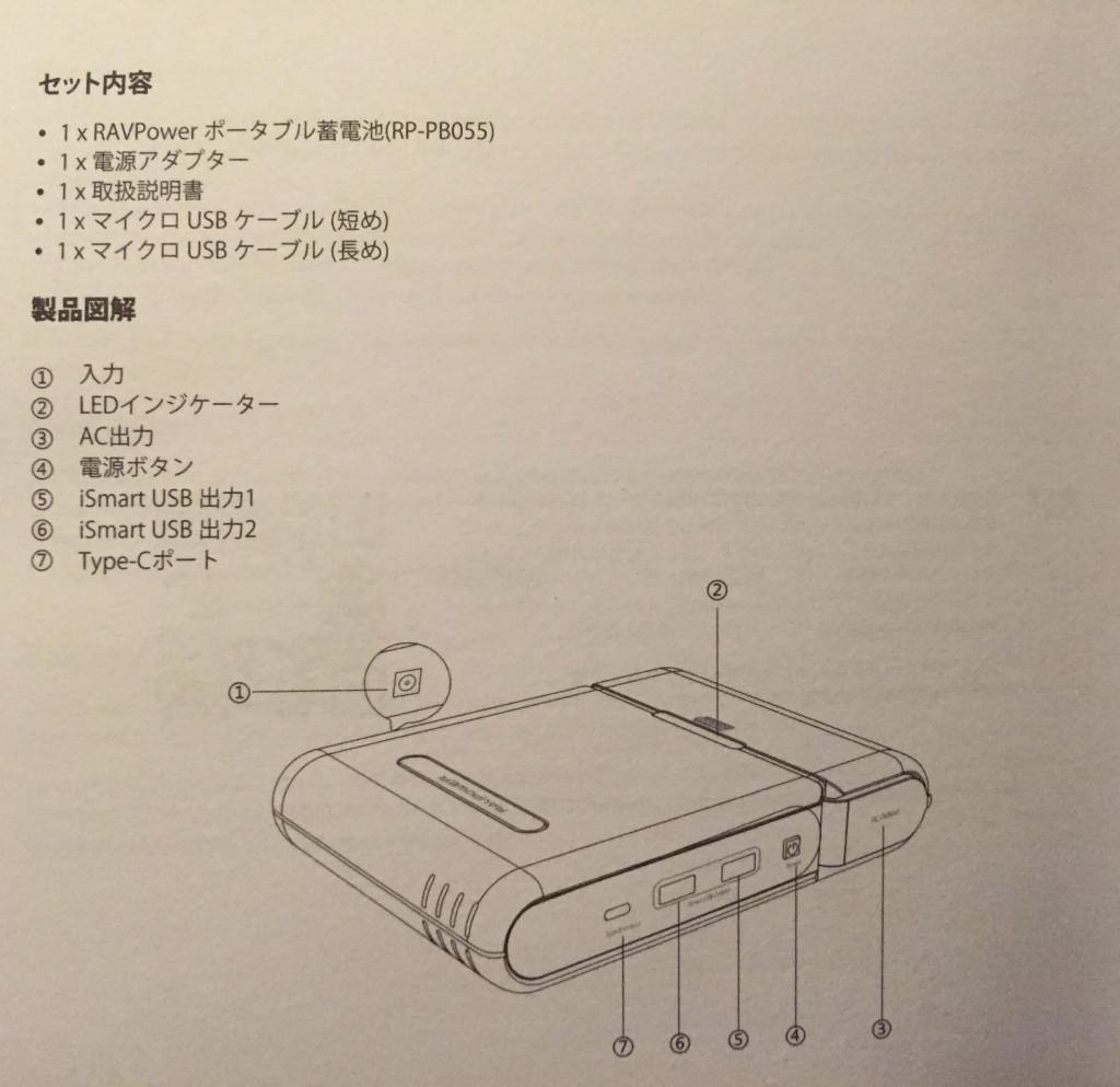 【レビュー】RAVPOWER 『ポータブル電源 RAVPower 27000mAh-RP-PB055 / 100W 予備電源 パソコン バッテリー(MacBookPro2016対応)