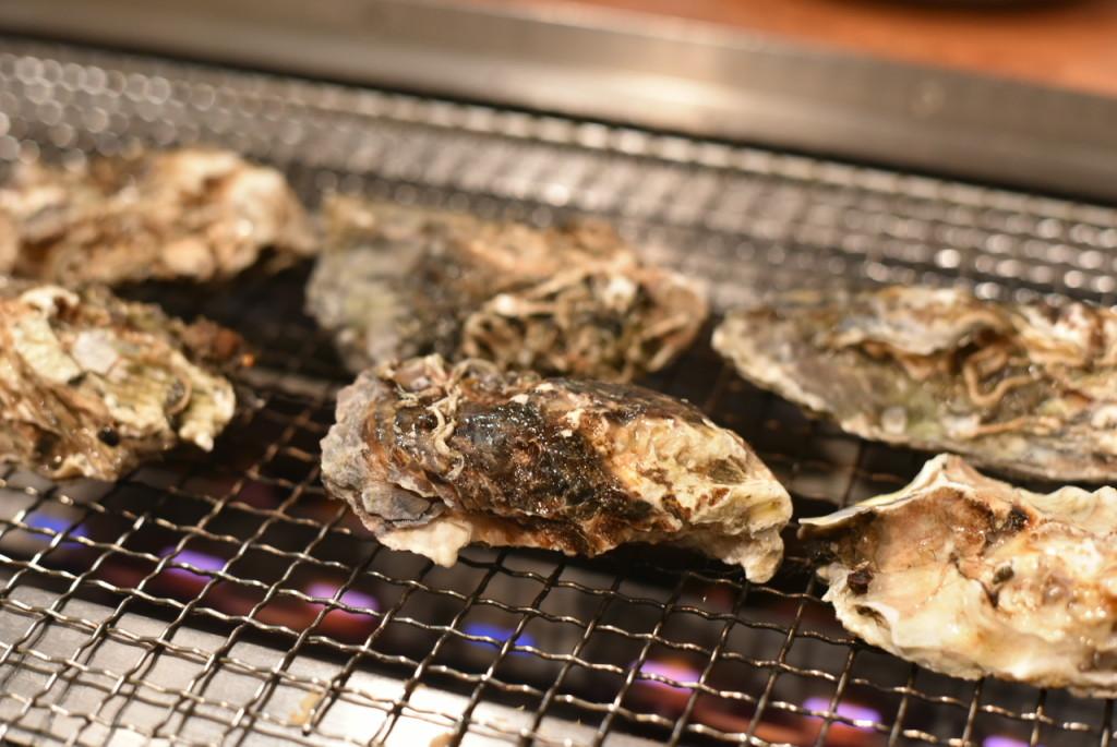 恵比寿「かき小屋」の牡蠣