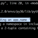 [Django1x -> 2x]解決: 「'Specifying a namespace in include() without providing an app_name '」