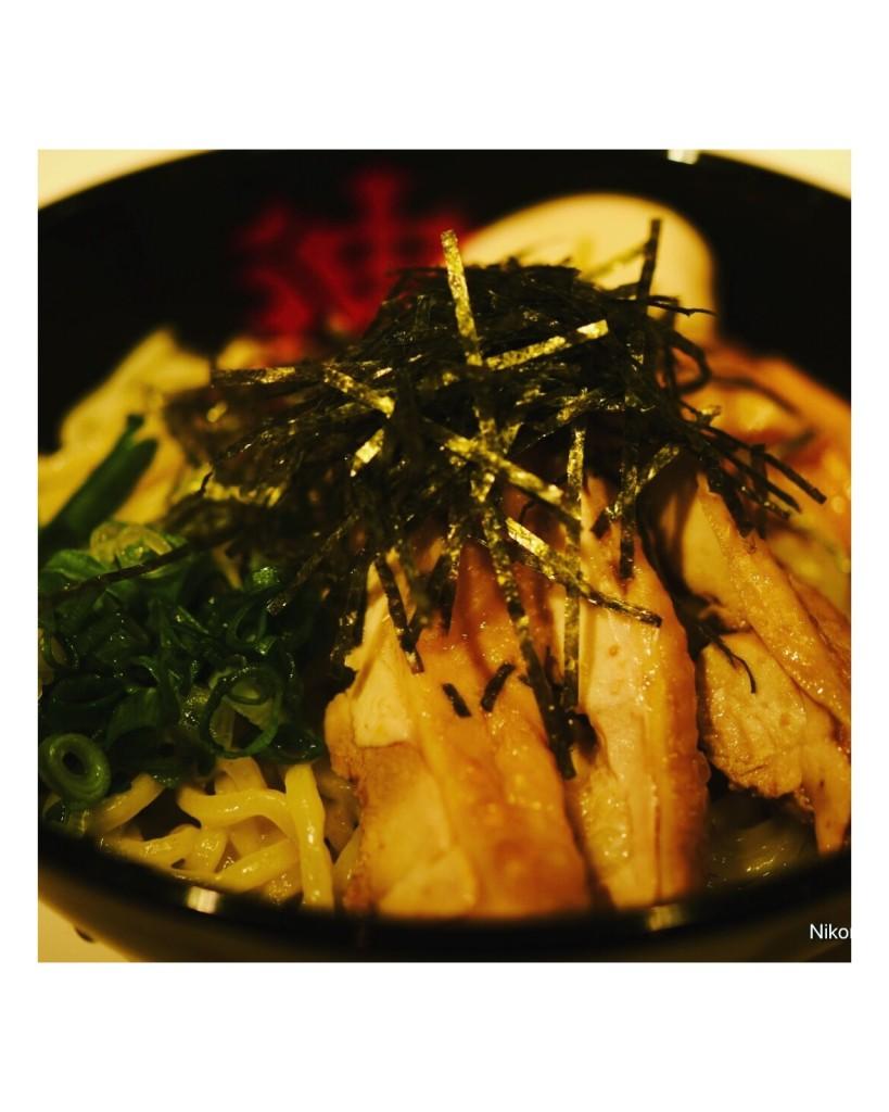 笹塚 油そばてつの「鶏醤油 油そば」840円