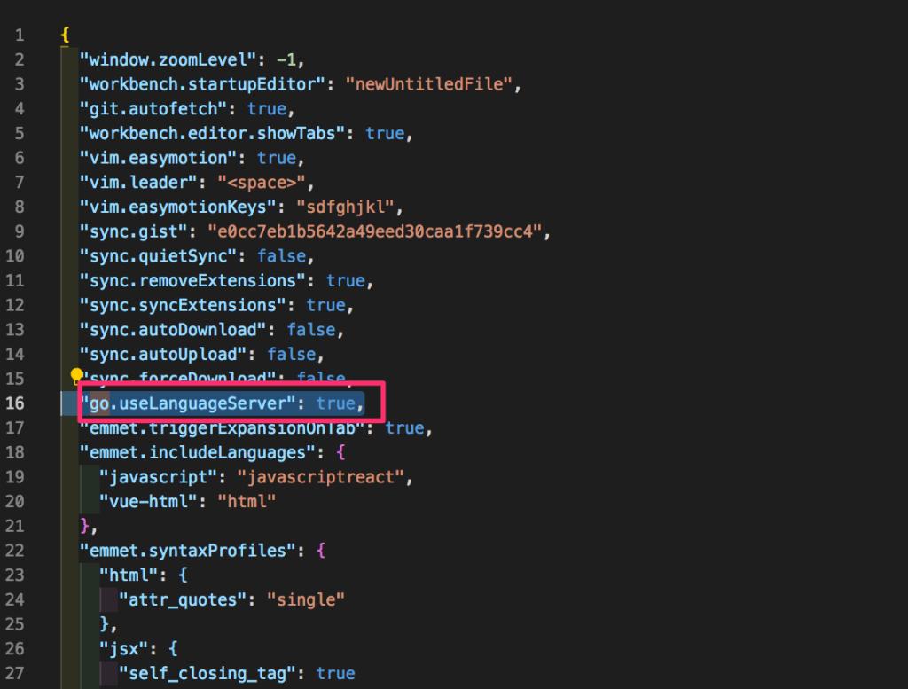 setting.jsonを開いて【Golang】VSCodeでgoの定義元にジャンプしたい場合(Go To Definition)