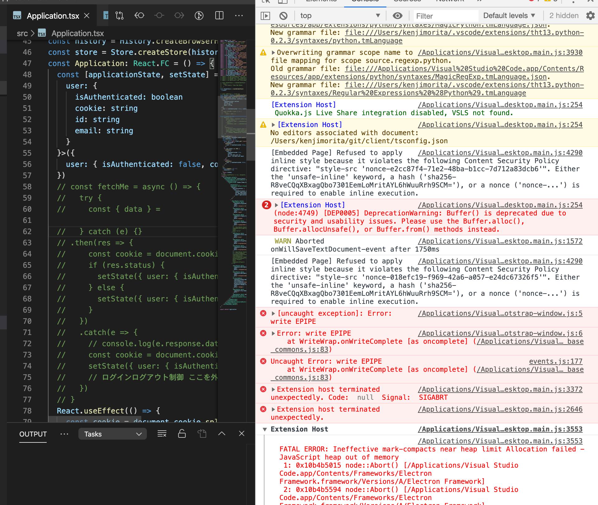 vscode vim suddenly stops working。vscodevim(1.12.2)でバックスペース削除ができなくなる問題