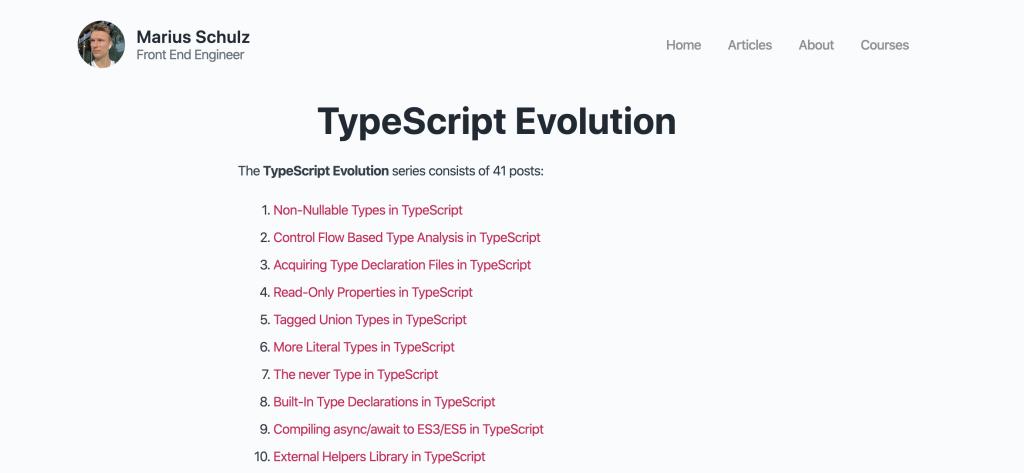 読んだ「TypeScript Evolution」