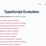 【読んだ】TypeScript-Evolution