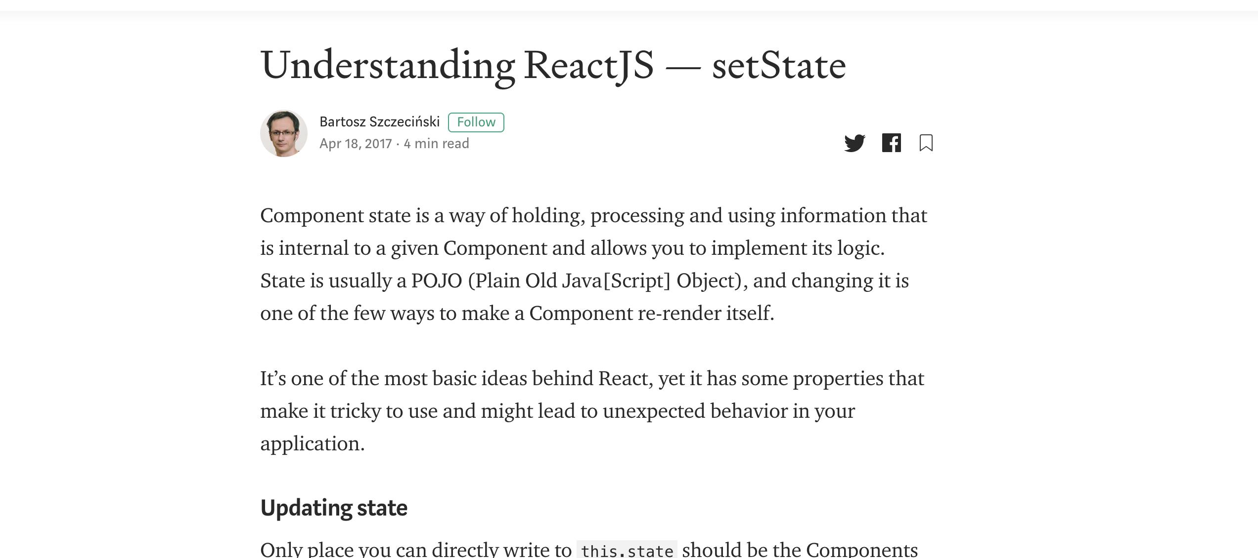 Understanding ReactJS — setState