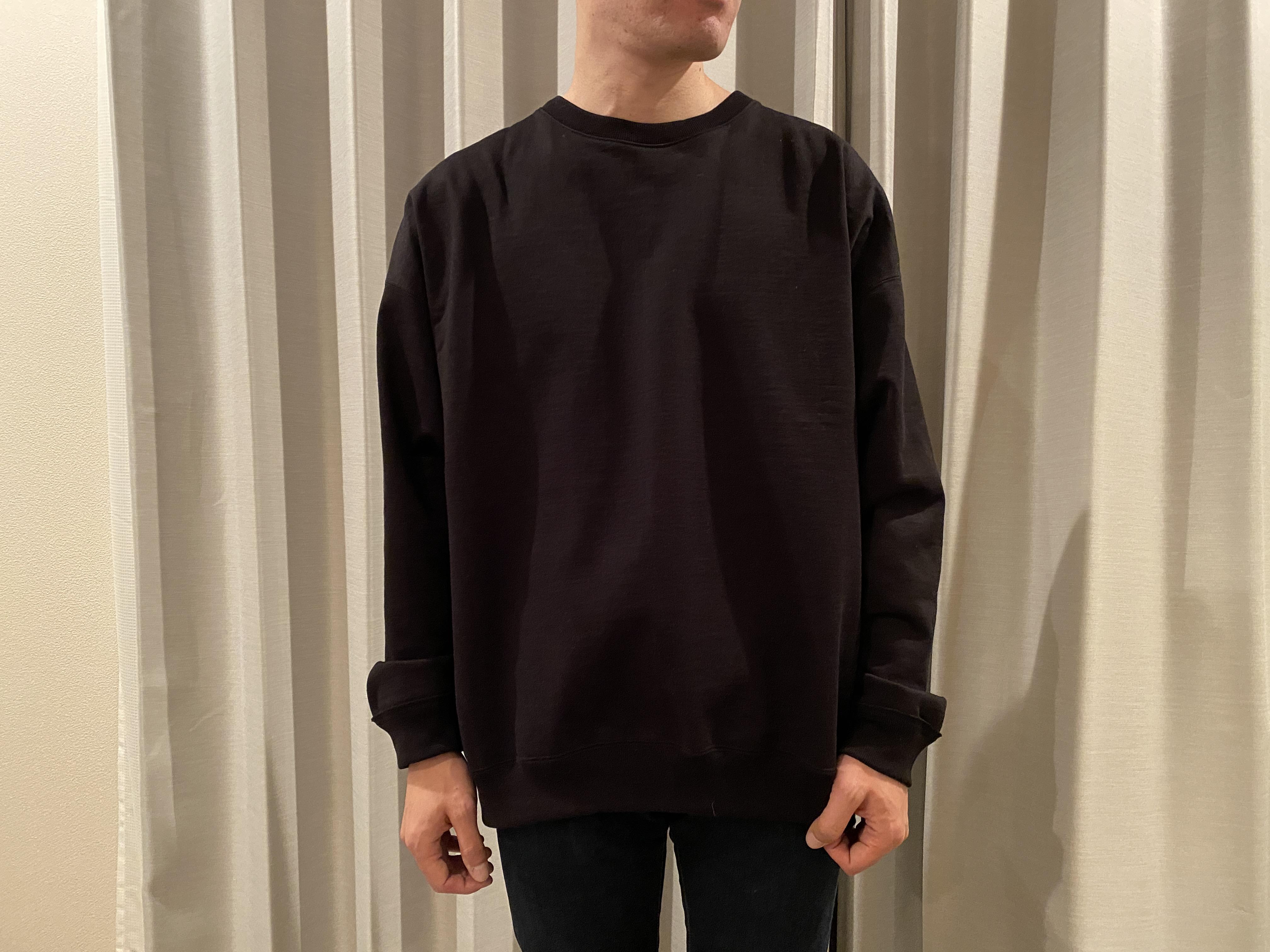 着た様子【行った】中目黒「PARKING」の「MARAKAWARE」オーバニックコットンコンパクトヘビー丸胴吊裏毛買ったよ
