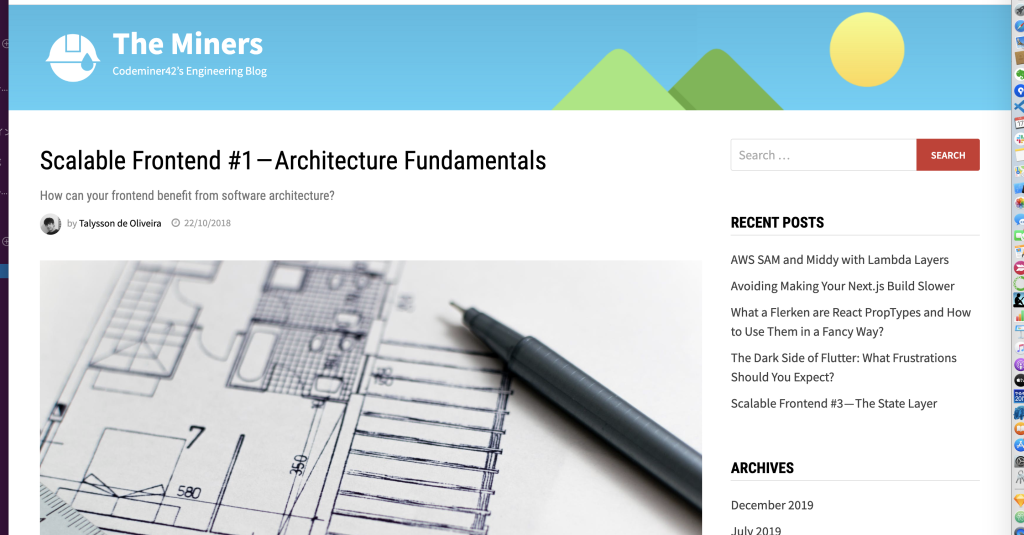 Scalable Frontend #1—Architecture Fundamentals