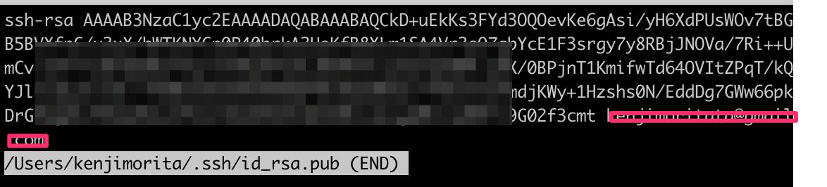 ssh-keyが生成されています