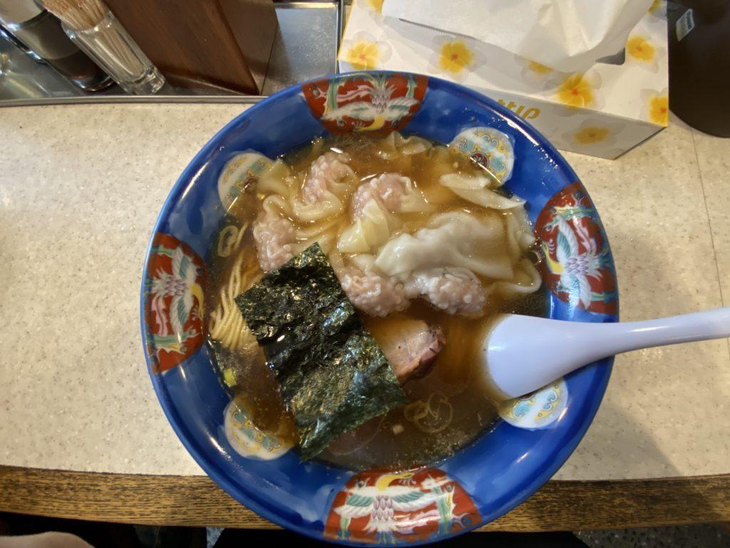 完食【行った】浜田山「たんたん亭」(支那そば)で「肉ワンタンメン」