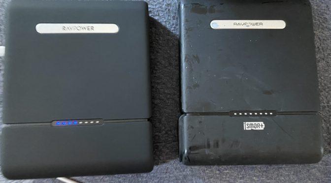 【買い換えた】RAVPower ポータブル電源 モバイルバッテリー 30000mAh 100W( MacProチャージャー)